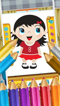 Little Girls Coloring World screenshot 11