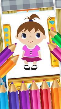 Little Girls Coloring World screenshot 12