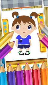 Little Girls Coloring World screenshot 14