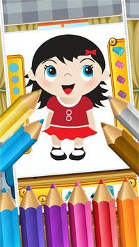 Little Girls Coloring World screenshot 1