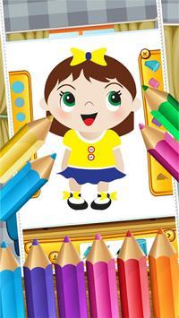 Little Girls Coloring World screenshot 3