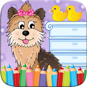 My Pet Puppy Coloring Book icon
