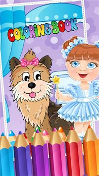 My Pet Puppy Coloring Book poster
