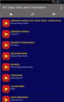 Ost Siapa Takut Jatuh Cinta Reborn Lagu + Lirik apk screenshot