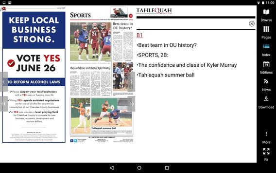 Tahlequah Daily Press screenshot 5