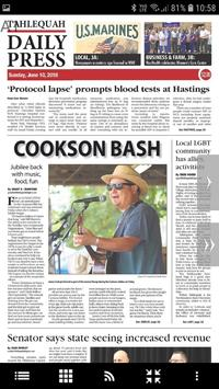 Tahlequah Daily Press poster