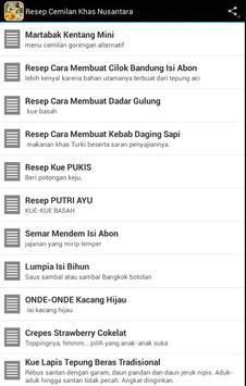 RESEP CEMILAN khas Nusantara apk screenshot
