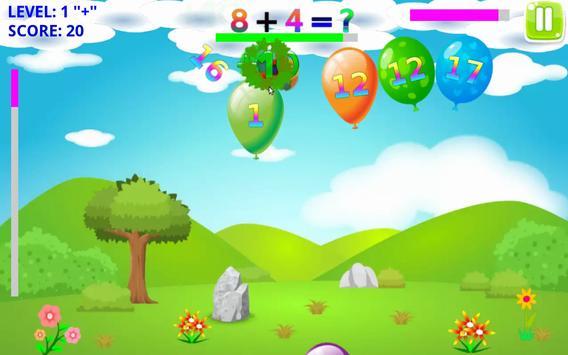 Math Balloons Plus screenshot 3