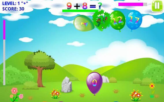 Math Balloons Plus screenshot 5