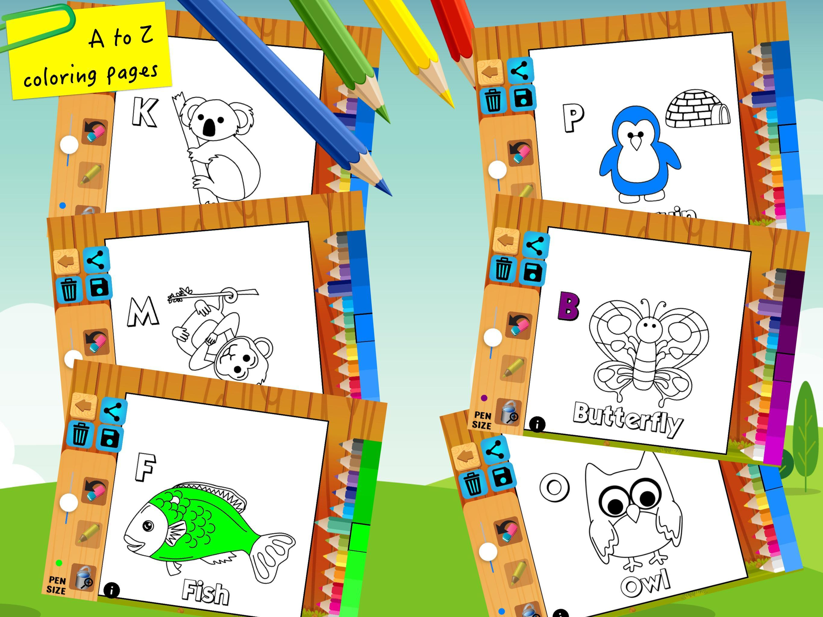 Abc Coloring Pages Painting For Kids Learning For Android Apk Download