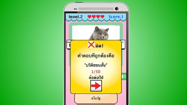 เกมส์ทายหมาแมว apk screenshot