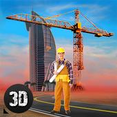 Hotel Building Construction icon
