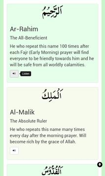 99 Names Of Allah (swt) apk screenshot