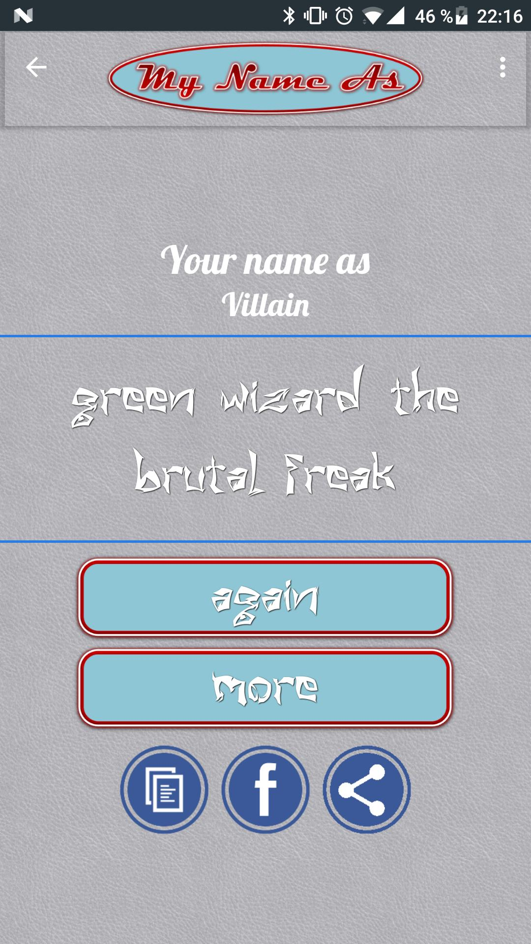 My Name As Super Villain // Name Generator for Android - APK