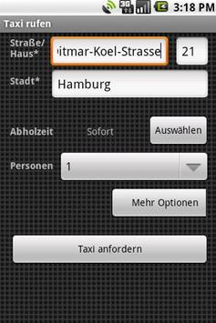 Homburger Funktaxibutton apk screenshot