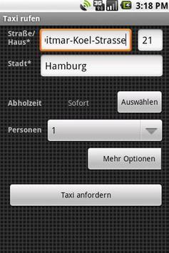 Taxi Kröger Hamburgh apk screenshot