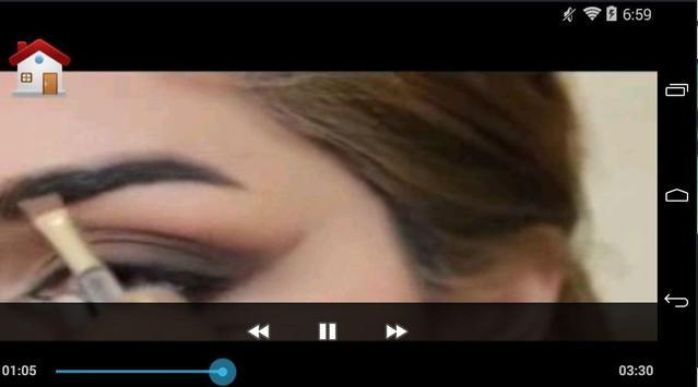 تعليم رسم الحواجب بالفيديو screenshot 2