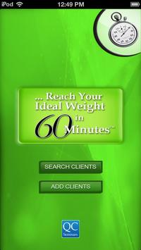 Ideal weight in 60 minutes poster