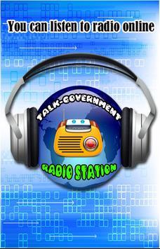 Talk-Government Radio poster