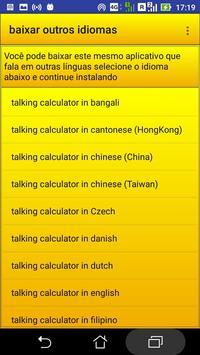 calculadora falante screenshot 2