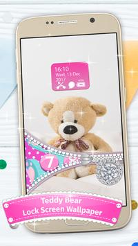Teddy Bear Lock Screen Zipper screenshot 2
