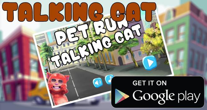Talking cat Run 2 poster