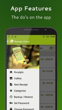 Receipt Chest apk screenshot