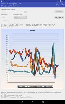 5 Schermata Throughput Test Client