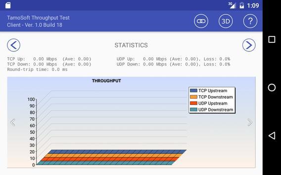 8 Schermata Throughput Test Client