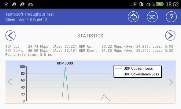 Throughput Test Client syot layar 3
