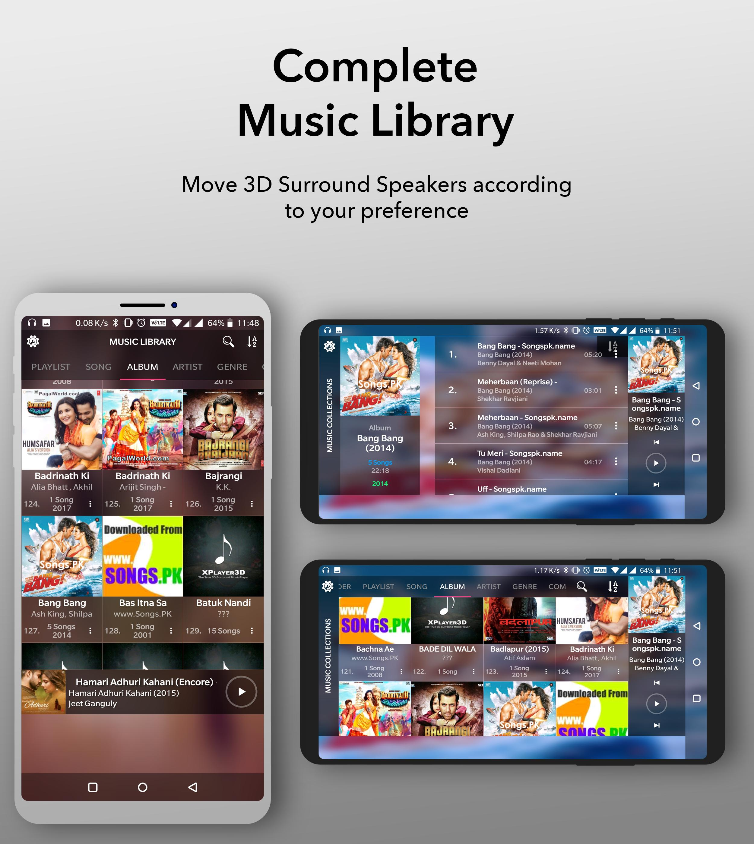 3D Surround MusicPlayer (FREE) (Unreleased) for Android - APK Download