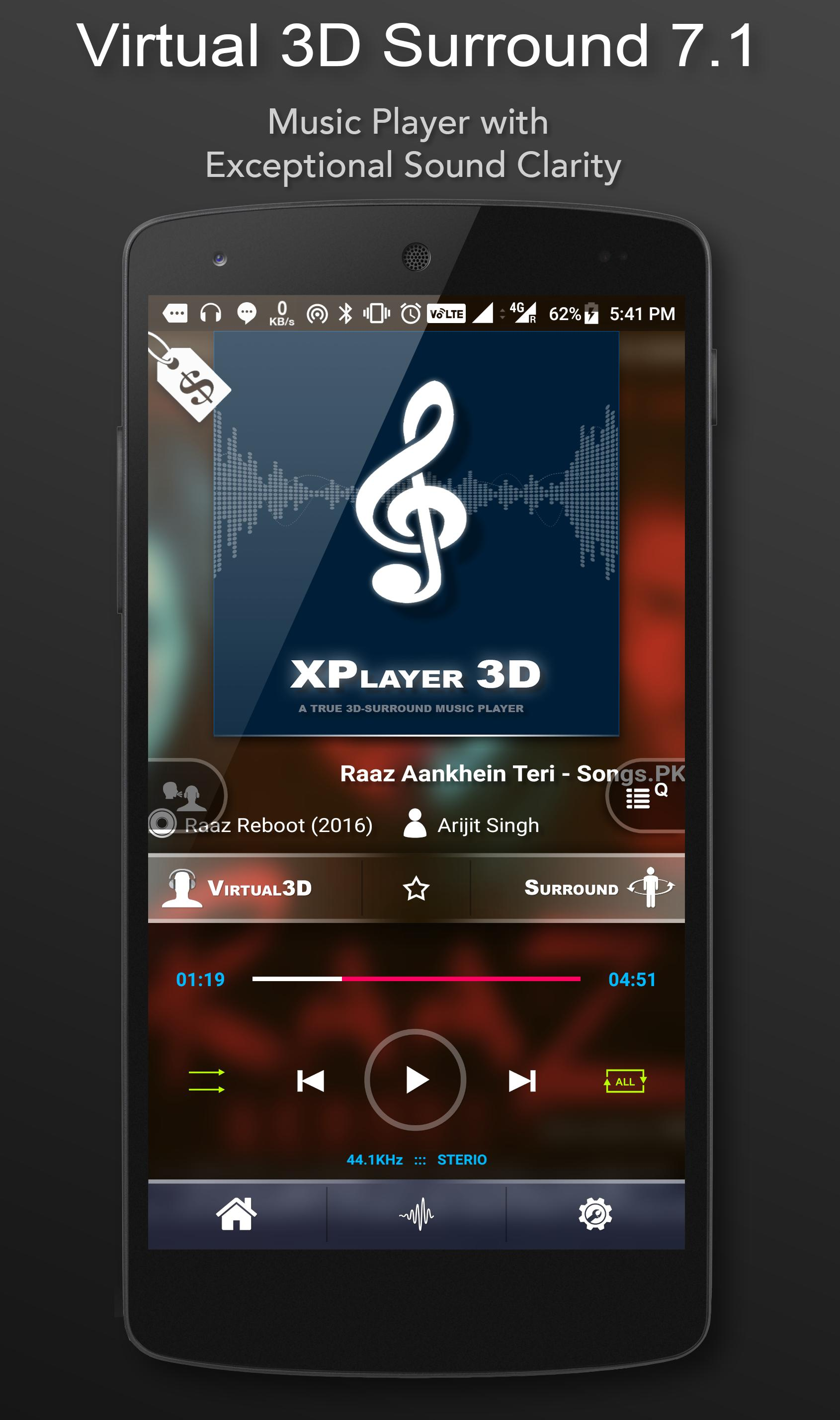 3D Surround Music Player cho Android - Tải về APK