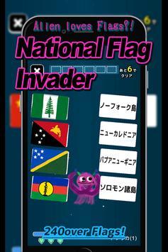 National Flag Invader poster