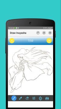 Learn to draw inuyasha apk screenshot