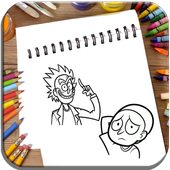 How To Draw Rick and Morty icon
