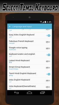 Tamil Hindi Keyboard English typing with emojis screenshot 20