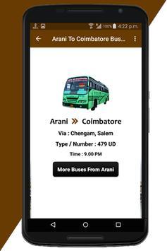 Arani Bus Info screenshot 2