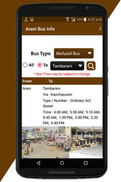 Arani Bus Info screenshot 4