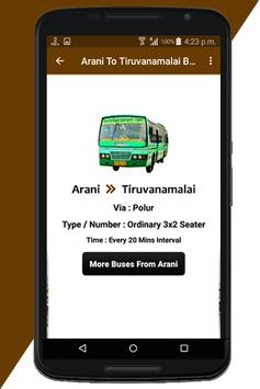 Arani Bus Info screenshot 5