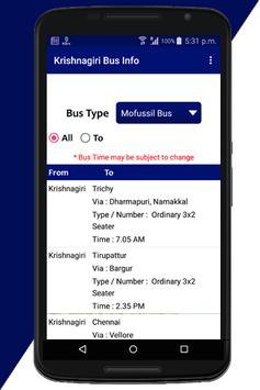 Krishnagiri Bus Info screenshot 3
