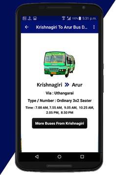 Krishnagiri Bus Info screenshot 2