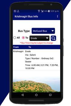 Krishnagiri Bus Info screenshot 4
