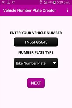 Vehicle Number Plates Creator poster