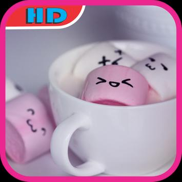 Cute Marshmallow Wallpaper HD poster