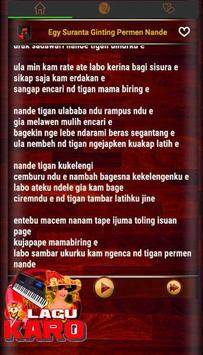 Lagu Karo Populer screenshot 1