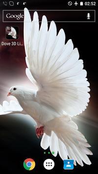 Dove 3D Live Wallpaper poster
