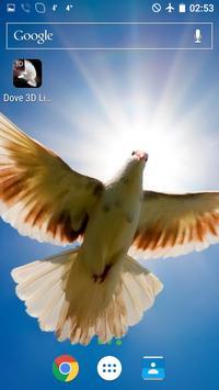 Dove 3D Live Wallpaper apk screenshot