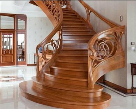 Design minimalist wooden staircase apk screenshot