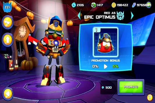 Game Angry Birds Transformers Trick poster