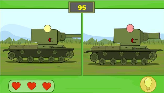 Find 5 differences - Tanks screenshot 12